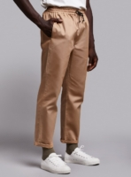 Drawstring trousers (beige) in cotton, made in Portugal by wetheknot.