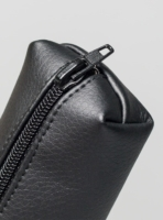 Pencil case (Black) in vegan leather, made in Portugal by wetheknot.