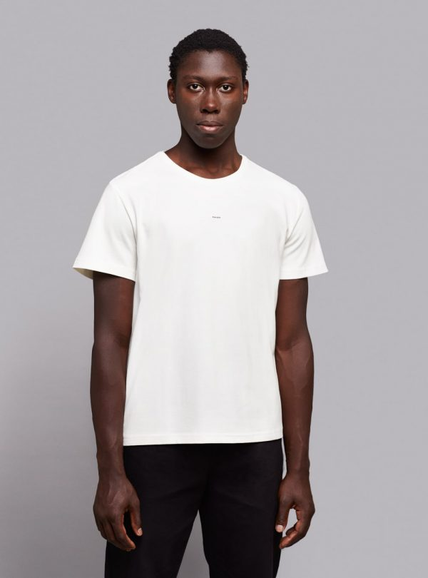 Everyday t-shirt (warm white) in organic cotton, made in Portugal by wetheknot.