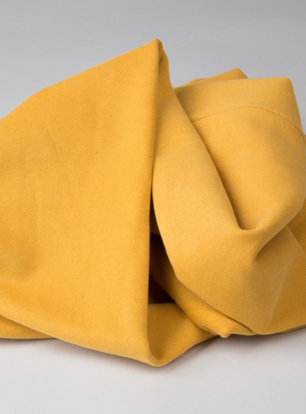 Organic cotton fabric in mustard with 340gsm