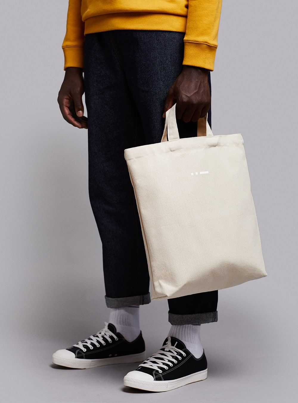 Shopper bag (warm white) in cotton, made in Portugal by wetheknot.