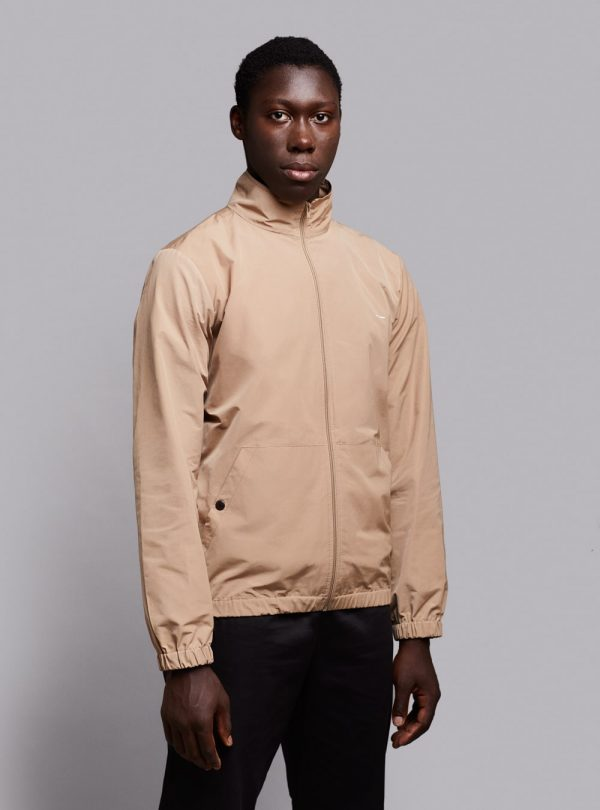 Windbreaker jacket (lightweight) in beige, made in Portugal by wetheknot.