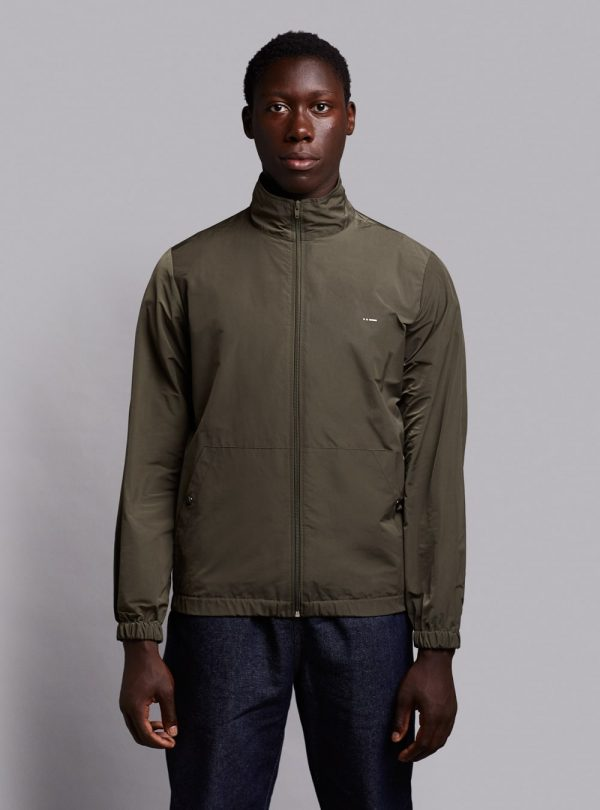 Windbreaker jacket (lightweight) in olive green, made in Portugal by wetheknot.