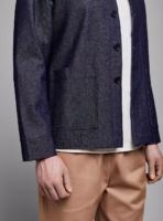 Denim jacket (dark denim) in cotton, made in Portugal by wetheknot.