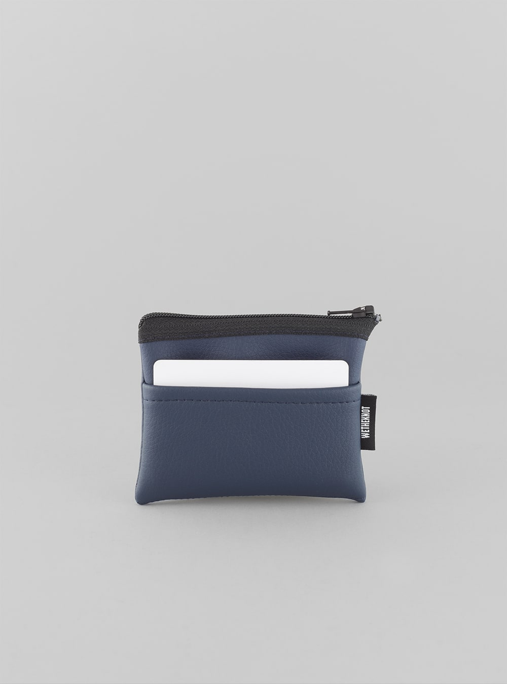 Card holder (dark blue) in vegan leather, made in Portugal by wetheknot.