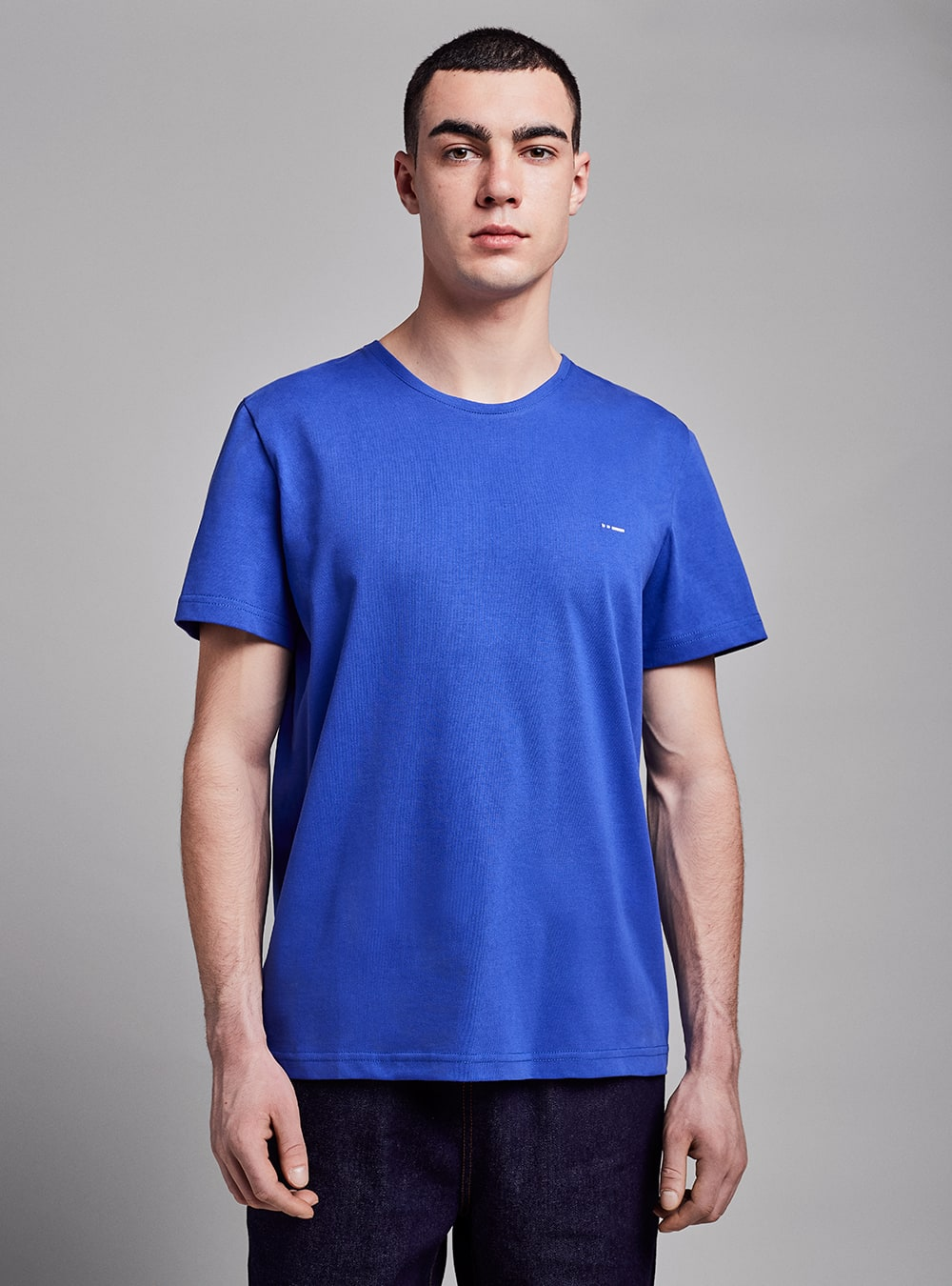 Essential t-shirt (blue) in organic cotton, made in Portugal by wetheknot.