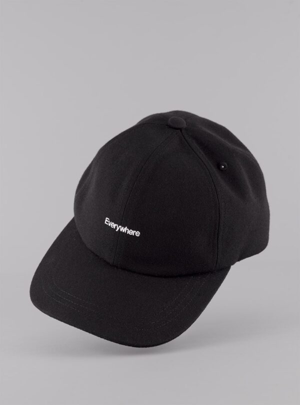 Everywhere cap (black) in sun and fade resistant fabric, made in Portugal by wetheknot