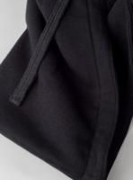 Piqué hoodie in black (detail)