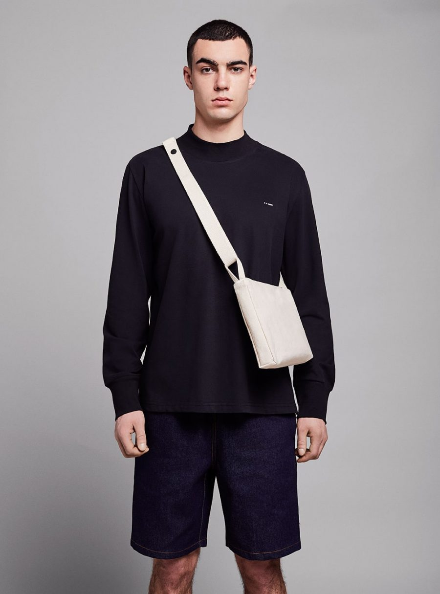 Shoulder bag (warm white) in cotton, made in Portugal by wetheknot.