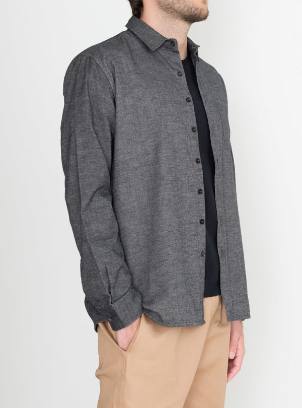 made in Portugal overshirt wetheknot casual shirt black cotton 01
