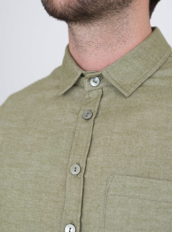 wetheknot casual shirt light green cotton 04 made in portugal overshirt