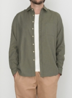 wetheknot casual shirt olive green cotton 03 overshirt