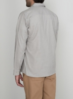 wetheknot casual shirt pale grey cotton 01 made in portugal overshirt