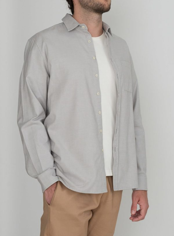 wetheknot casual shirt pale grey cotton 02 made in portugal overshirt