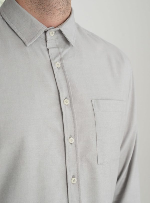 wetheknot casual shirt pale grey cotton 03 made in portugal overshirt