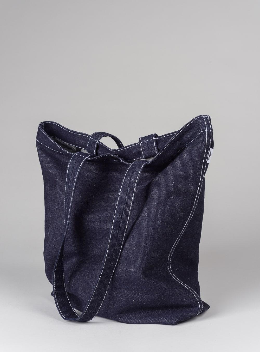 Denim tote bag (dark denim) in cotton, made in Portugal by wetheknot.