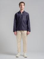 Minimal denim jacket (dark denim) in cotton, made in Portugal by wetheknot.