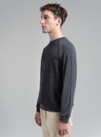Cupro sweatshirt (black) in vegan silk, made in Portugal by wetheknot.