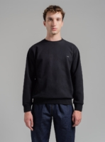 Essential sweatshirt (black) in organic cotton, made in Portugal by wetheknot.