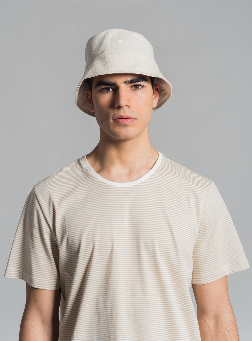 Graphic bucket hat (warm white), made in Portugal by wetheknot