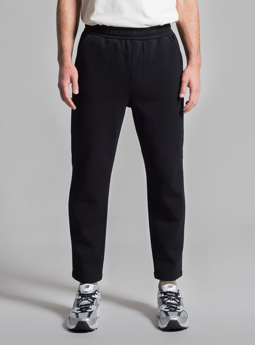 Piqué track pants (black) made in Portugal by wetheknot