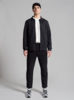 Piqué tracksuit (black) made in Portugal by wetheknot