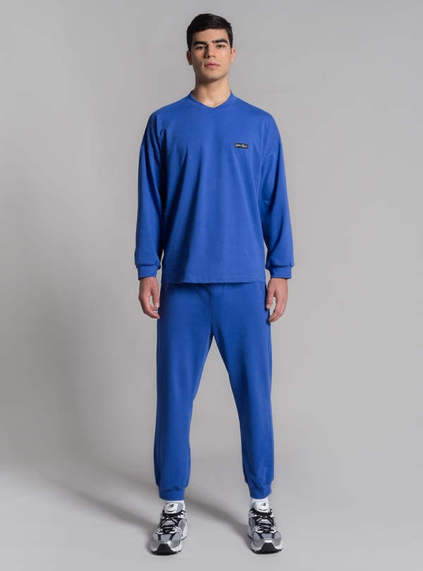 Relaxed jersey long sleeve and pants (blue) made in Portugal by wetheknot