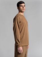 Relaxed jersey long sleeve and pants (brown) made in Portugal by wetheknot