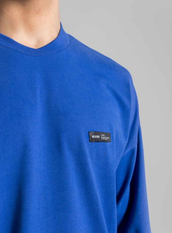 Relaxed jersey long sleeve (blue) made in Portugal by wetheknot