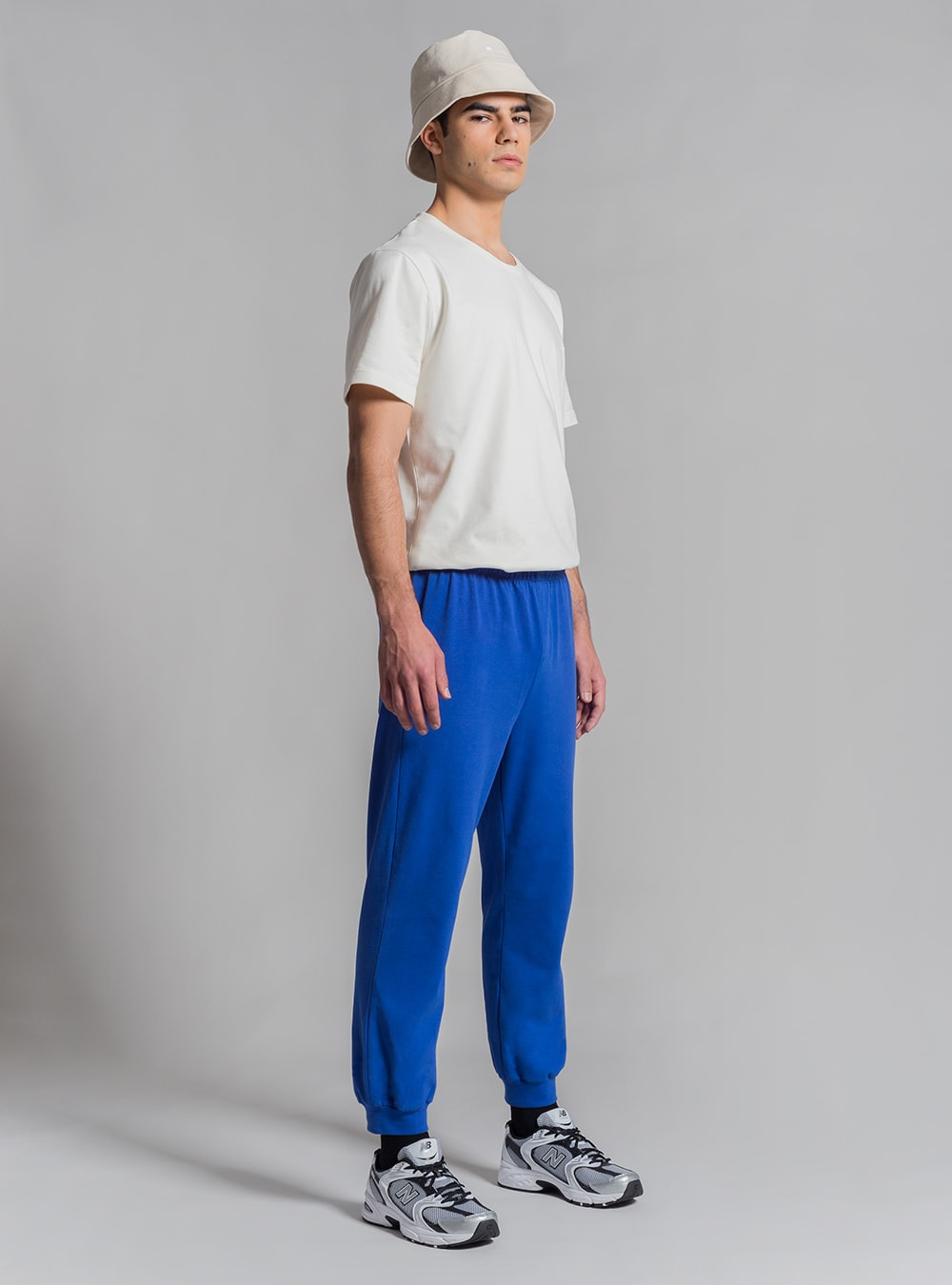 Relaxed jersey pants (blue) made in Portugal by wetheknot