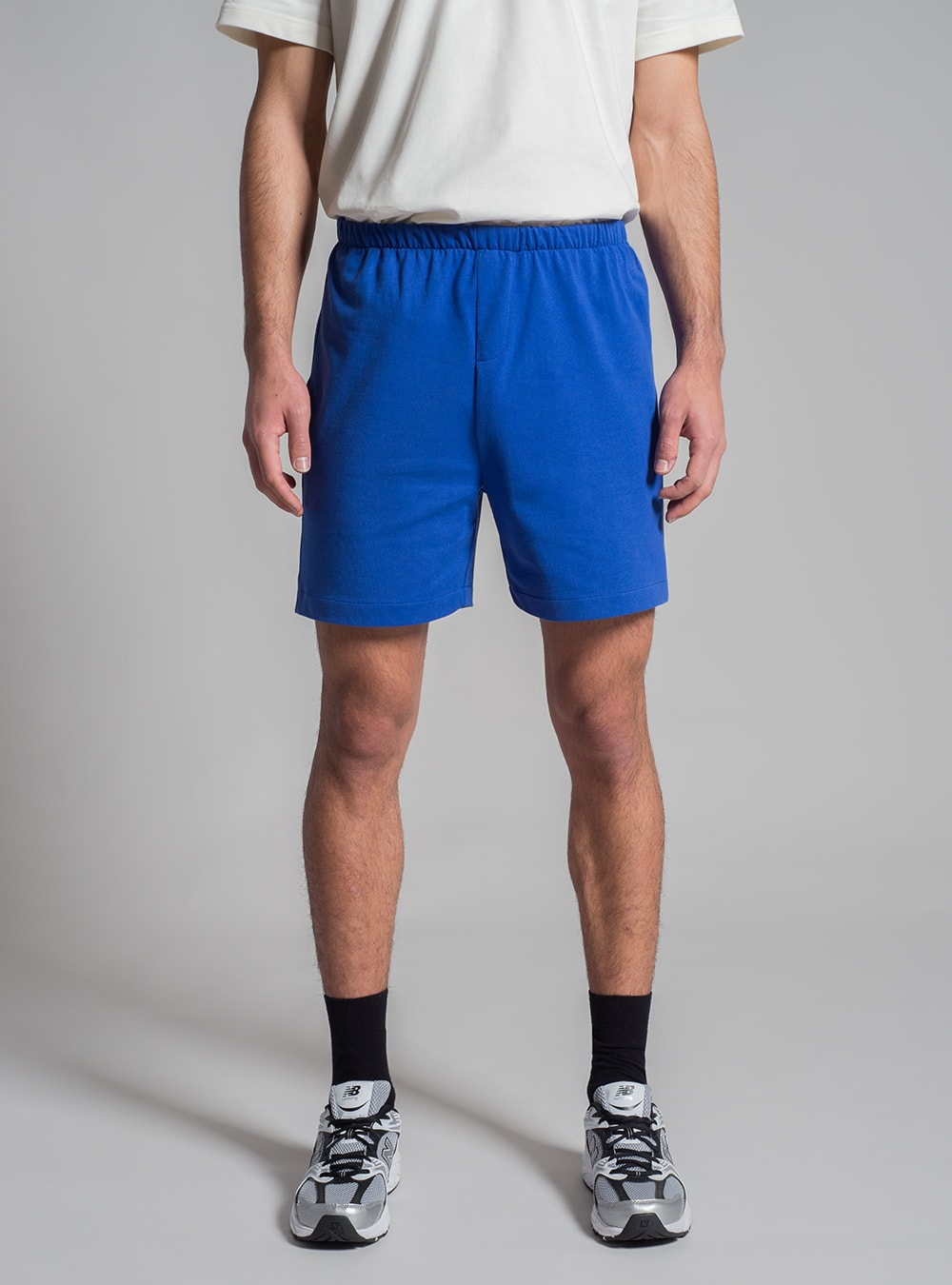Relaxed jersey shorts (blue) made in Portugal by wetheknot