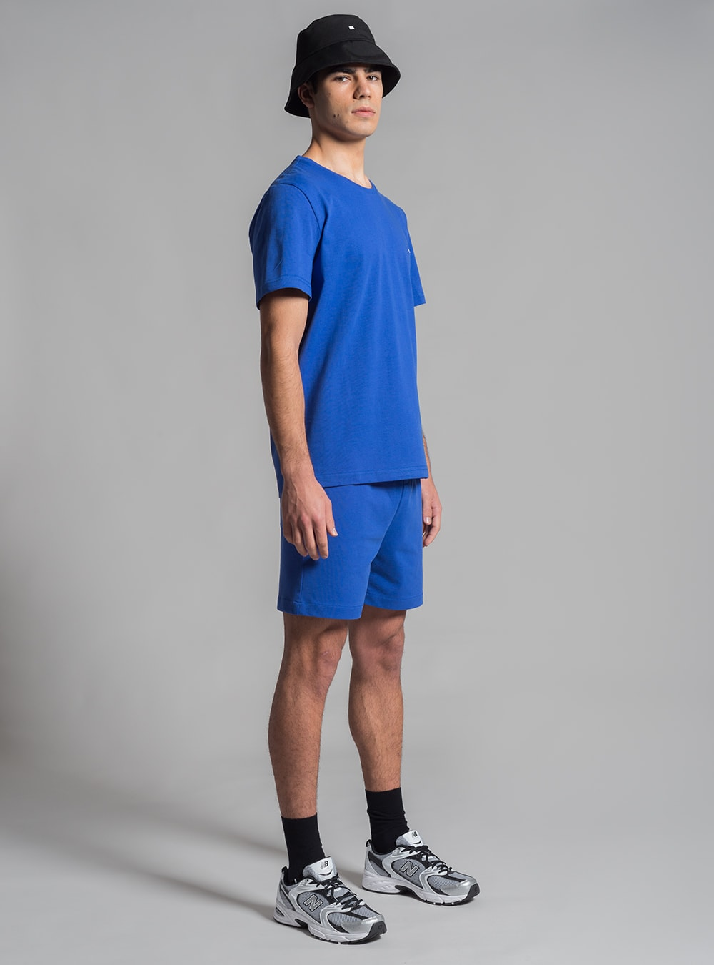 Relaxed jersey t-shirt and shorts set (blue) made in Portugal by wetheknot