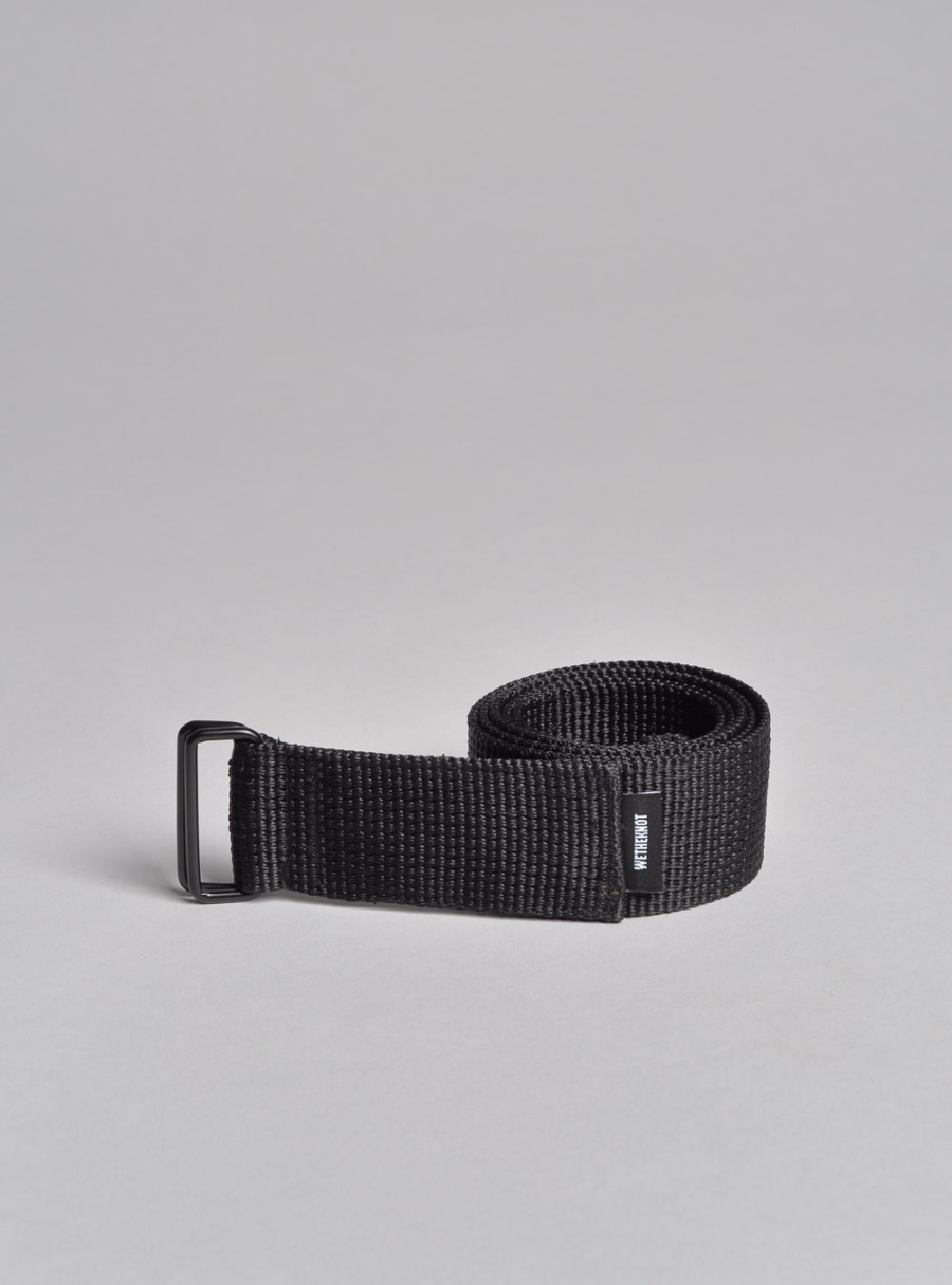 Squared minimalist belt (black) made in Portugal by wetheknot