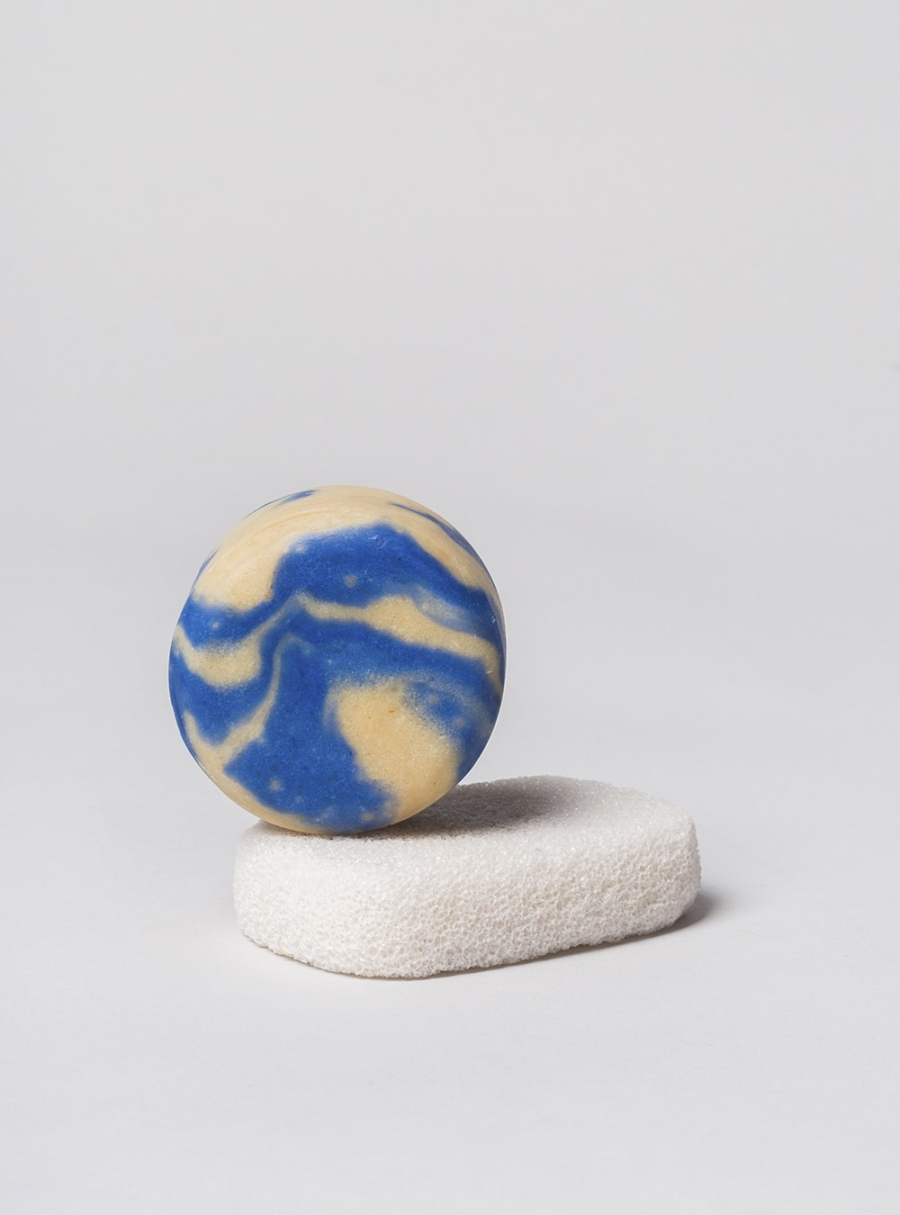 Handmade solid shampoo bar, bamboo and jasmine, made in Portugal