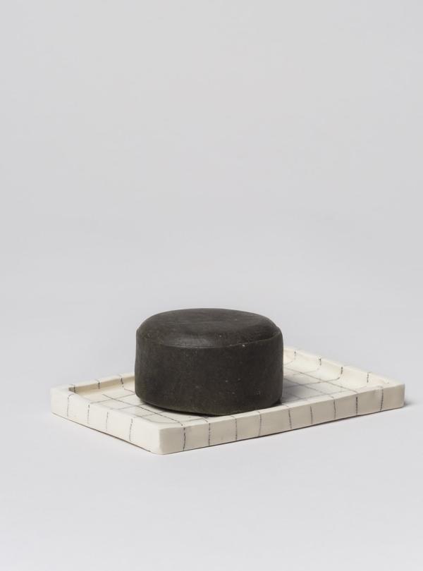 Handmade solid shampoo bar, cypress, tea tree and mint, made in Portugal
