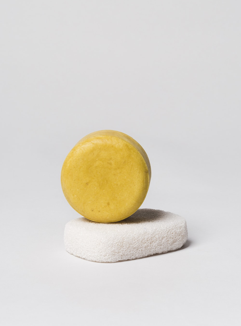 Handmade solid shampoo bar, orange flower and rosemary, made in Portugal