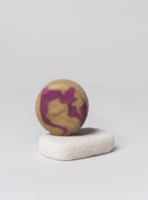 Handmade solid shampoo bar, pomegranate and ghassoul clay, made in Portugal