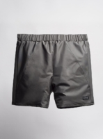Shorts (bottle grey) made from upcycled umbrellas found in the streets, made in Portugal by wetheknot
