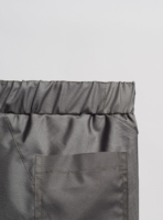Detail from shorts (bottle grey) made from upcycled umbrellas found in the streets, made in Portugal by wetheknot