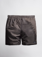 Shorts (brown) made from upcycled umbrellas found in the streets, made in Portugal by wetheknot