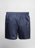 Reversible swim shorts (dark blue) made from upcycled umbrellas found in the streets, made in Portugal by wetheknot
