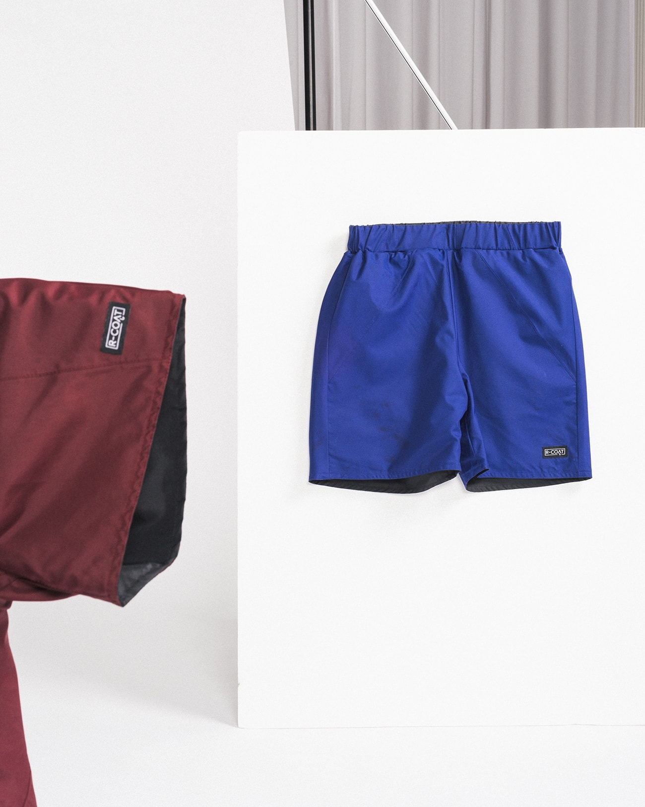 Reversible swim shorts made from upcycled umbrellas found in the streets, made in Portugal by wetheknot